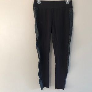 MAURICES Black/Leather Detail Leggings